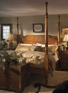 Maine Sea Captains Bed In Tiger Maple. Made By Leonards Furniture Of  Massachusetts. I