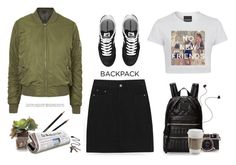 Back to school- backpack by yexyka on Polyvore featuring polyvore fashion style Topshop New Balance Marc by Marc Jacobs Stolen Girlfriends Club John-Richard Dixon Ticonderoga Diane Von Furstenberg Cullen BackToSchool