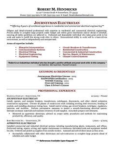 example of journeyman electrician resume httpexampleresumecvorg example