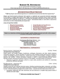example of journeyman electrician resume httpexampleresumecvorgexample