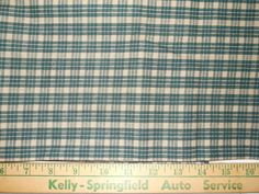 """Country Green Plaid Fabric     44""""   By The Yard"""