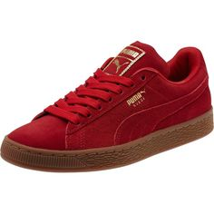 Puma Suede Classic Gold Women's Sneakers ($70) ❤ liked on Polyvore  featuring shoes,