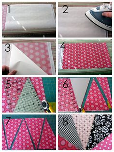 How to make bunting double sided with pom pom trim