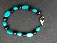 Black and Blue Handmade Bracelet Featuring by ReprievesCorner, $14.99