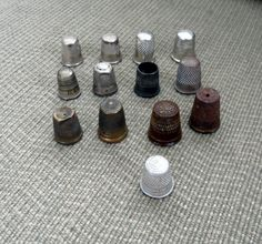 THESE THIMBLES SOLD.....................VINTAGE THIMBLES/13 Vintage Thimbles/1 Made in England/! Made From Tin/Some Brass/Variety of Thimbles/Used in Sewing/Collection of Thimbles by BYGONERA on Etsy
