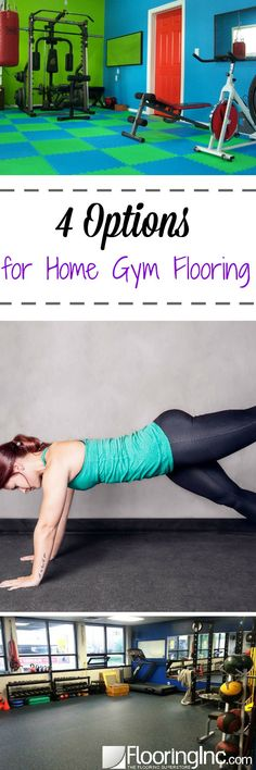 4 Options for Home Gym Flooring: Make the choice between rubber, foam, carpet and vinyl Home Gym Basement, Basement Carpet, Rubber Flooring, Vinyl Flooring, Gym Workouts, At Home Workouts, Parkour Gym, Home Gym Flooring, Basement Flooring