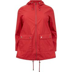 Curves Red Matte Rain Coat (1.212.595 VND) ❤ liked on Polyvore featuring outerwear, coats, rain coat, mac coat, red coat, matte coat and red raincoat