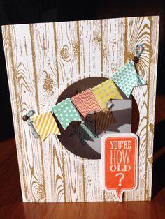 Hardwood, banner blast card for nephew