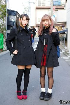 Mim and Mam are kawaii Japanese twin sisters and well-known Zipper Magazine models who we have been seeing around Harajuku a lot recently. Fashion 90s, Tokyo Street Fashion, Tokyo Street Style, Japanese Street Fashion, Harajuku Fashion, Japan Fashion, Kawaii Fashion, Lolita Fashion, Korean Fashion