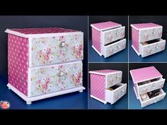 57 New ideas for home decoration diy ideas space saving Craft Tables With Storage, Crate Storage, Craft Room Storage, Storage Boxes, Diy Drawer Organizer, Desk Organization Diy, Diy Desk, Diy Hidden Storage Ideas, Diy Storage