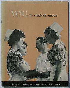 Harper Hospital School of Nursing Detroit, MI Me,  a student nurse, class of 1968.
