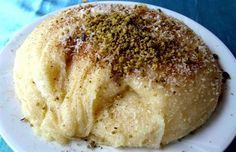 Bursa Halva with Halva - Turkish Recipes Easy Cake Recipes, Dessert Recipes, Milk Dessert, Greek Cooking, Bread And Pastries, Gluten Free Cakes, Turkish Recipes, Food Facts, International Recipes