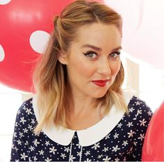 LC Lauren Conrad Minnie Rocks The Dots Collection Collared Top