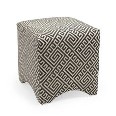 This ottoman with a timeless pattern is a stylish addition to any home. Not only is it an attractive piece, the ottoman is versatile and can be adapted for your own needs. Put your feet up and relax, or sit down and use it as a stool.