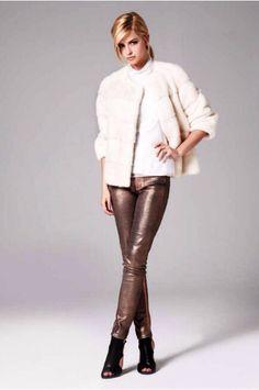 Lilly E Violetta Pearl Mink Fur Jacket