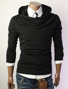 Turtleneck Hoodie - for the more fashionable guy #mens #fashion @urbancargo