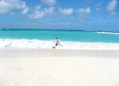 Gazing out at the surf and bright turquoise of Shoal Bay on a winter afternoon in Anguilla. | Anguilla-Beaches