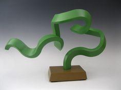 Wood Abstract Modern Sculpture Art