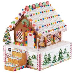 gingerbread houses pictures | gingerbread house stand kit $ 19 95 gingerbread man baking
