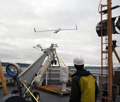 Launching an Unmanned Aerial Vehicle (UAV) / Courtesy NOAA