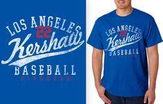 Clayton Kershaw Los Angeles Dodgers star Pitcher Retro Shirt #MLBPA #LosAngelesDodgers