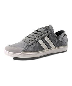 Loving this Gray Wrinkle Cosmo Low Sneaker on #zulily! #zulilyfinds