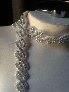 18  Rhinestone Trim for Bridal Sashes Headbands by MaryNotMartha, $18.50
