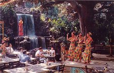 """Tahitian Terrace at Disneyland ..Again when I was a kid this was as close to a tropical island I was going to get.. I was lucky to see the show once that I remember .. you see this was a """"dinner show"""" and that meant it was expesive.. or at least my parents said :)"""