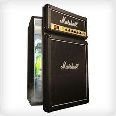 Marshall Amp Fridge. Cool idea to paint a regular refrigerator for cheaper