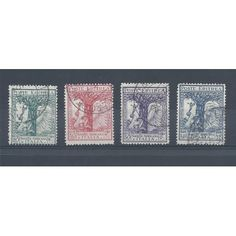 1928 CIRENAICA SERIE SOCIETA  AFRICANA 4 VAL USATI MF13358