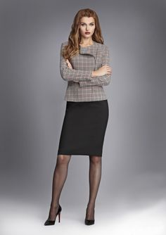 Office Dresses For Women, Office Fashion Women, Clothes For Women, Pantyhose Outfits, Tights Outfit, Nylons, Dress Attire, Work Attire, Sexy Skirt