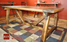Free DIY Furniture Project Plan: Learn How to Build a Rustic Farmhouse Table