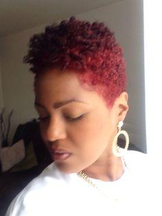 Natural hair Red hair...