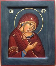 Orthodox icon Weep Not For Me Mother Mother of Mother Mother, Blessed Mother Mary, John Chrysostom, Russian Icons, Religious Icons, Orthodox Icons, Virgin Mary, Lent, Madonna