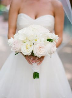 Bridal Bouquet • Is there anything more classically romantic than white roses?
