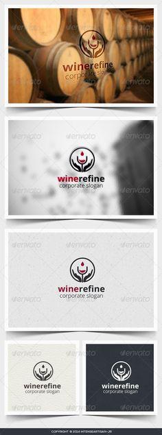 Wine Refine Logo Template - Food Logo Templates