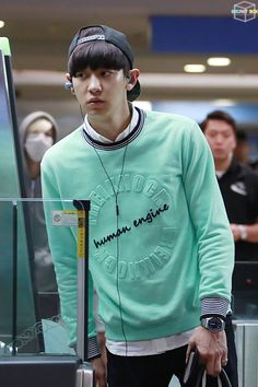 140702- EXO Park Chanyeol; Hongkong Airport to Incheon Airport #exok #mens #fashion #freiknock #details #mint