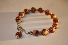 Bracelet perles fimo ton d'automne