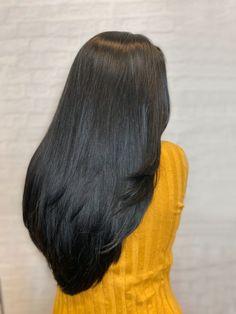 Full Service Hair Salon in Morristown NJ Indian Hairstyles, Bun Hairstyles For Long Hair, Braids For Long Hair, Trendy Hairstyles, Straight Hairstyles, Straight Black Hair, Long Dark Hair, Long Black, Beautiful Long Hair