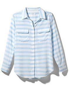 striped signature blouse / equipment