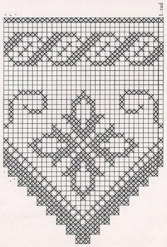 Филейное вязание крючком . — отделочная кайма со схемами | OK.RU