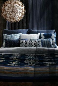 indigo tribal home decor trends 14 Residence Trends For 2014 Trends Residence 2014 Blue Bedroom, Dream Bedroom, Bedroom Decor, Indigo Bedroom, Bedroom Colors, Bedroom Bed, Design Bedroom, Bedroom Ideas, Tribal Home Decor