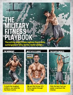fitness Are you badass enough to handle the training program that builds elite, battle-ready soldiers? Get the New Army Fitness Playbook >> Muscle Fitness, Fitness Diet, Fitness Goals, Fitness Motivation, Health Fitness, Army Workout, Military Workout, Crossfit, Weight Training