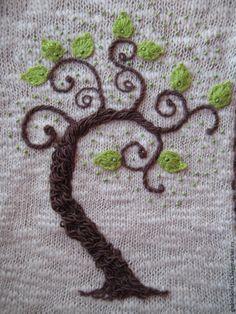 """Платья ручной работы. Ярмарка Мастеров - ручная работа. Купить Платье из альпаки """"Сказочное дерево"""". Handmade. Платье"""