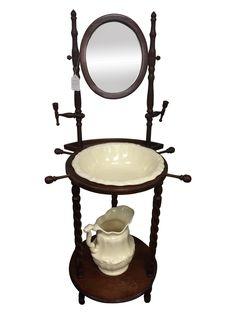 Antique vintage wash basin stand w mirror wash basin and for Wash basin mirror price