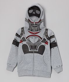 Christmas is just around the corner take a look at this Heather Gray & Black Mesh Zip-Up Hoodie - Boys by Longstreet on #zulily today!