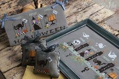 Halloween Week Cross Stitch Chart | Etsy Cross Stitch Charts, Counted Cross Stitch Patterns, Cross Stitch Embroidery, Halloween Week, Pumpkin Carver, Fall Garland, Halloween Cross Stitches, Sewing Stitches, Vintage Pins