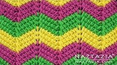 Learn how to make a crochet ripple stitch pattern. This is a Tunisian crochet stitch in the Stitchorama by Naztazia collection. A DIY crochet project by Donna Wolfe from Naztazia. Tunisian Crochet Patterns, Crochet Ripple, Free Crochet, Crochet Granny, Knitting Patterns, Häkelanleitung Baby, Diy Crochet Projects, Chevron Baby Blankets, Crochet Video
