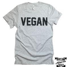Vegan T-shirt. I Am Vegan Shirt. Funny Tee. T-shirt.