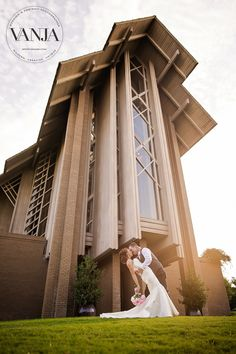 Marty Leonard Chapel weddings - beautiful bride and groom portrait with the chapel in the background